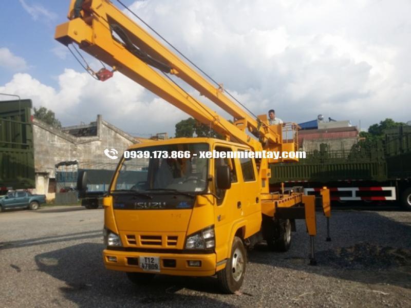xe tải thang nâng isuzu 14 mét