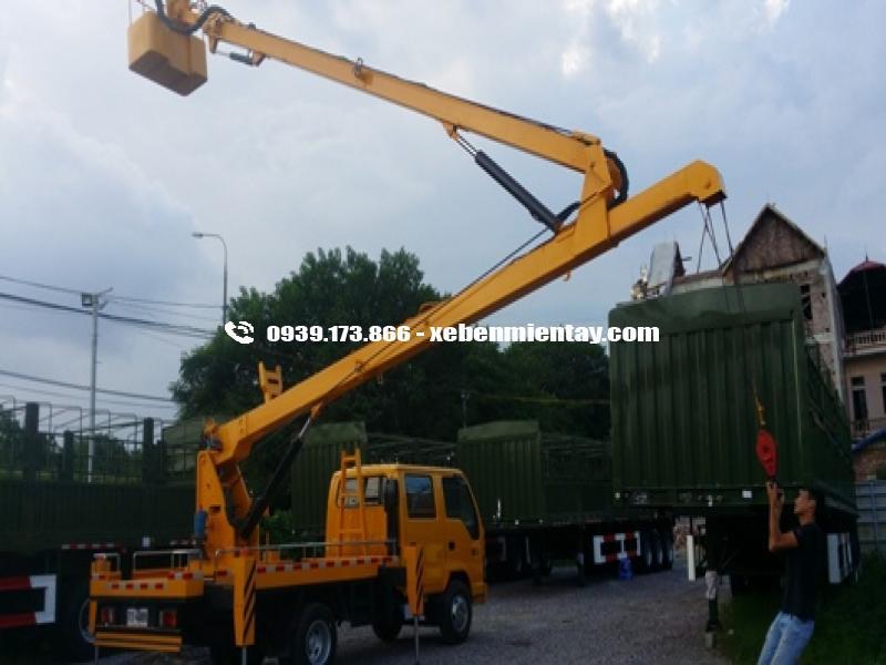 xe tải thang nâng isuzu 18 mét