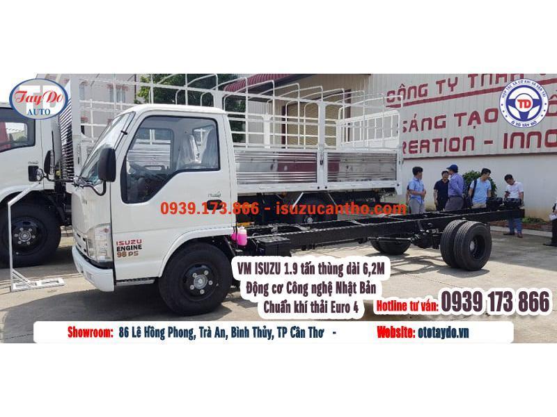 Xe tải VM Isuzu NK 490 1.9 tấn Thùng 6.2 Euro 4