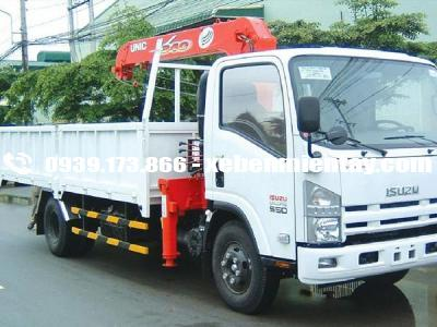 xe tải isuzu gắn cẩu unic 3 tấn 4